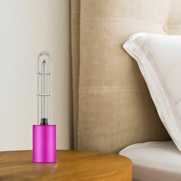 Luftreiniger, Voroar Elektrischer Luft Reiniger Steriliser mit UV Licht und Ozon für 5 m2 Raum wie Auto, Toilette, Küche, Garderobe, Lila - 2