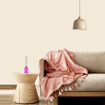Luftreiniger, Voroar Elektrischer Luft Reiniger Steriliser mit UV Licht und Ozon für 5 m2 Raum wie Auto, Toilette, Küche, Garderobe, Lila - 4