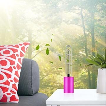 Luftreiniger, Voroar Elektrischer Luft Reiniger Steriliser mit UV Licht und Ozon für 5 m2 Raum wie Auto, Toilette, Küche, Garderobe, Lila - 6