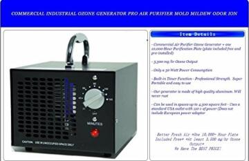 Ozongenerator 3500mg/hr Hausstand Ozon Luftreiniger Schimmelpilz Desinfektion Ozone Generator - 3