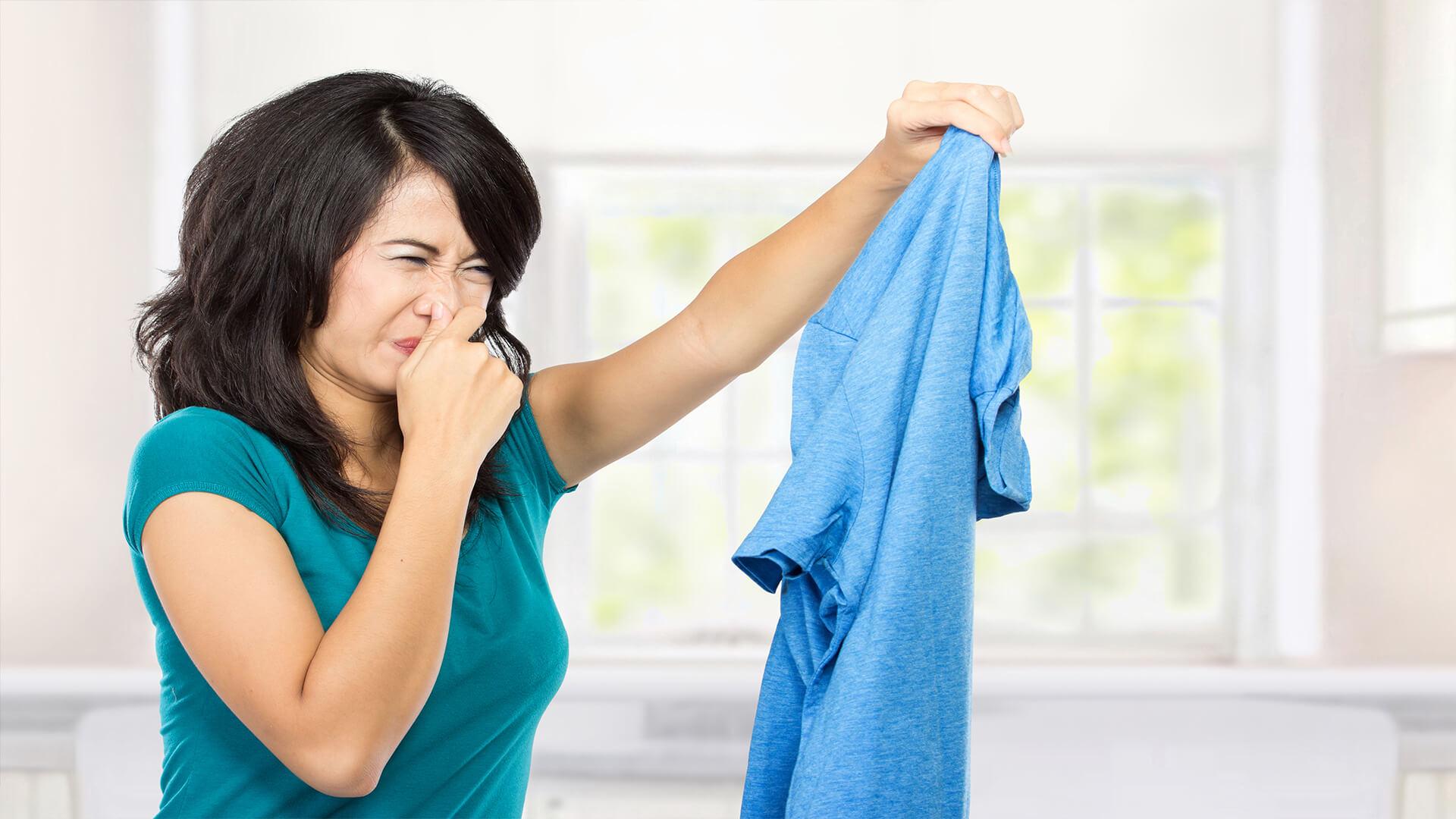 Ozonbehandlung bei Kleidung Wäsche stinkt