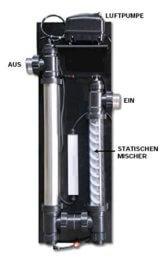 XClear Ozon Redox UV-C Low Pressure inkl. Luftpumpe & statischem Mischer - 1